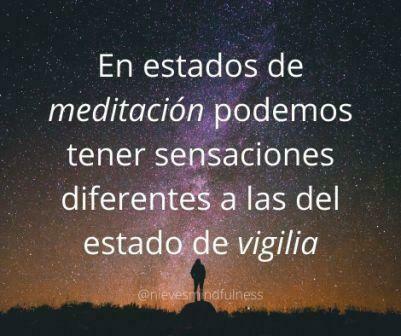 Sensaciones durante la meditación
